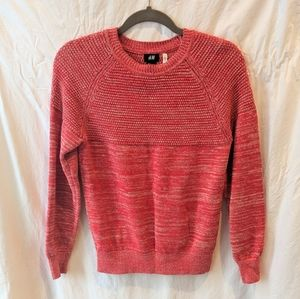 HM Red Sweater w/Waffle detail Small